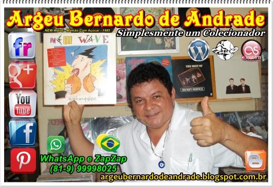 Argeu Colecionador do Recife Com o LP de NEW WAVE - Mamão Com Açúcar - 1985