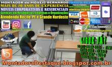 MONTADOR DE MÓVEIS BERNARDO WhatsApp +55 (81) 99999-8025 Móveis Corporativos e Residenciais - 08 - 2018031