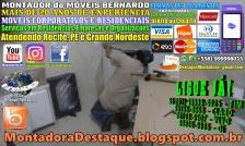 MONTADOR DE MÓVEIS BERNARDO WhatsApp +55 (81) 99999-8025 Móveis Corporativos e Residenciais - 08 - 20180313