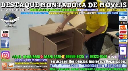 Montador de Móveis Olinda, Jaboatão, Recife, Camaragibe, Cabo, Paulista, Moreno, WhatsApp +55 (81) 99999-8025 - DESTAQUE MONTADORA - 156