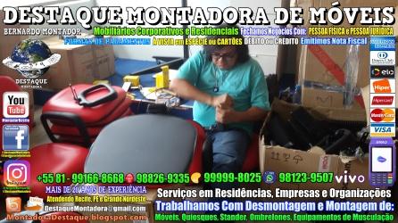 Montador de Móveis Olinda, Jaboatão, Recife, Camaragibe, Cabo, Paulista, Moreno, WhatsApp +55 (81) 99999-8025 - DESTAQUE MONTADORA - 207